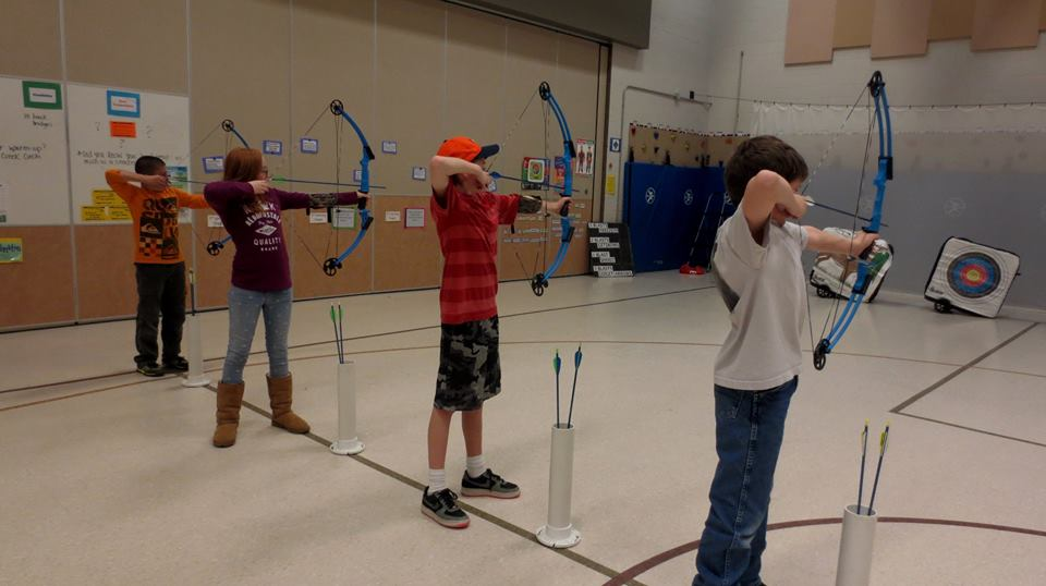 Kids Practicing Archery