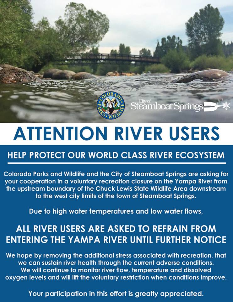River Closure Sign 2018