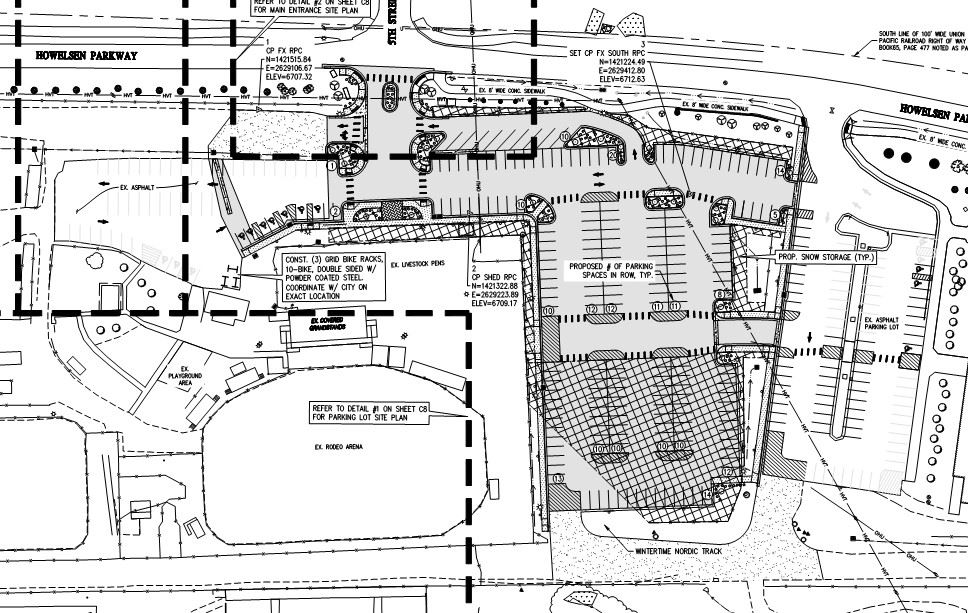 Proposed Rodeo Grounds Parking Lot