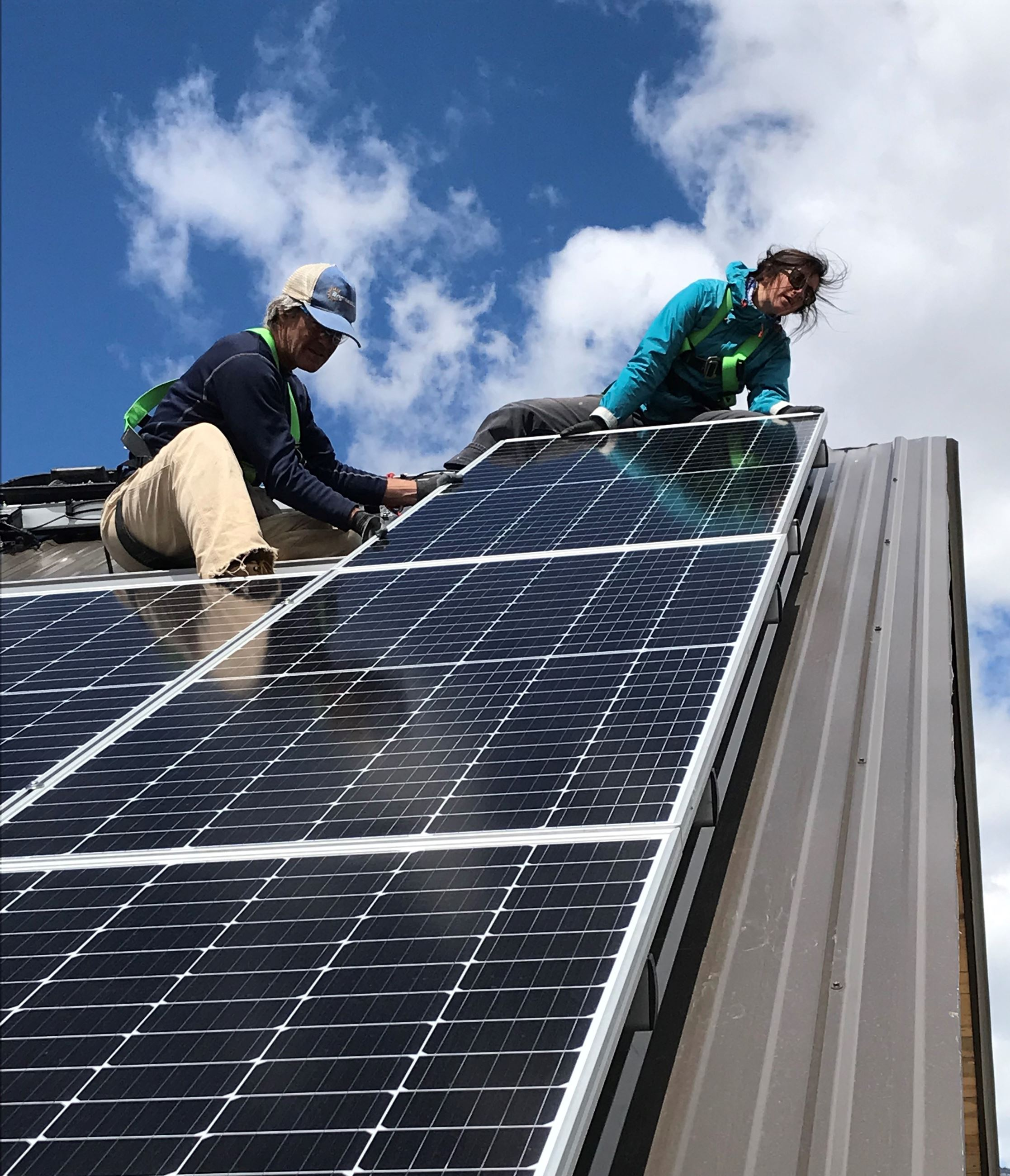 Solar install shot courtesy of Brightside Solar in Steamboat Springs